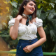 Saloni Singh in white top and blue jeans
