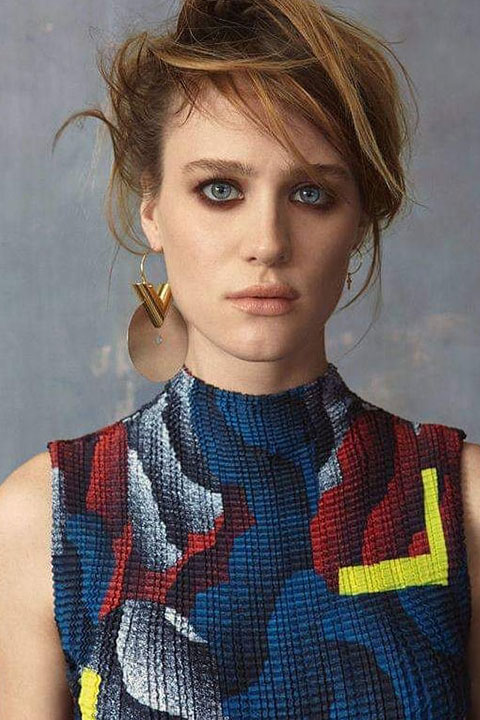 Mackenzie Davis in Blue dress