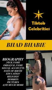 Bhad Bhabie Post for pinterest