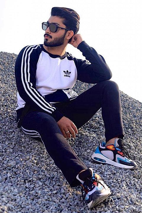 Arib Abbas looking great in track suite
