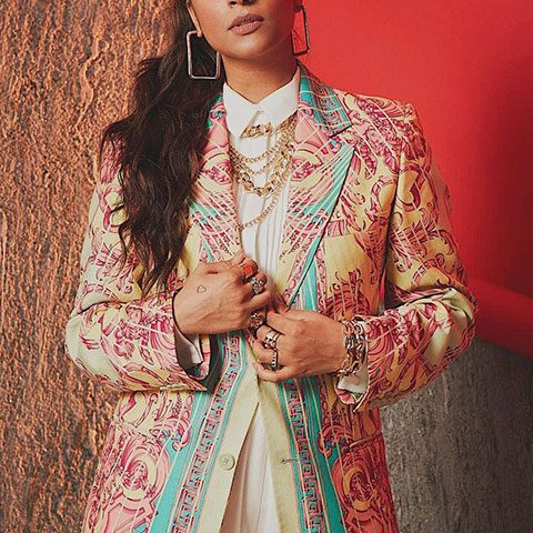 Lilly Singh in beautiful indian cultural dress